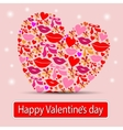 Card with heart valentine vector image vector image