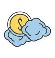 cash round symbol vector image