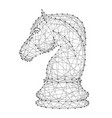 chess horse figure from abstract futuristic vector image vector image