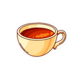 coffee cup hand drawn color vector image