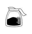 coffee jar sticker vector image