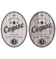 cognac labels vector image vector image