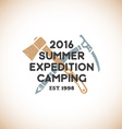 color expedition camping sign template vector image vector image