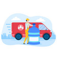 concept water delivery vector image