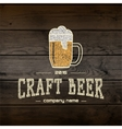 Craft beer badges logos and labels for any use vector image vector image