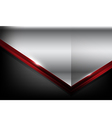 Dark carbon fiber and red overlap element abstract vector image vector image