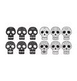 day of the dead skull set vector image vector image