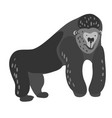 design with a a cute and friendly gorilla vector image vector image