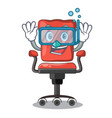 diving cartoon desk chair in the office vector image