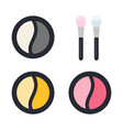 double-color eye shadow with applicators flat vector image vector image