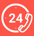 emergency services 24 hours icon isolated on a vector image