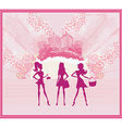 fashion girls Shopping background vector image vector image