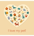 flat design pets composition vector image