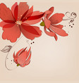 floral corner decoration vector image