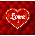 flyer with red heart and lights vector image vector image