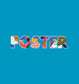foster concept word art vector image vector image