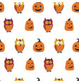 halloween seamless pattern holiday design vector image vector image