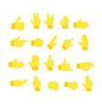 hands emoji set emoji hand vector image