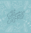 happy winter calligraphic lettering hand written vector image vector image