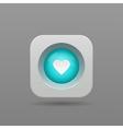 heart button vector image vector image