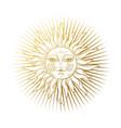 heaven stylized vintage design sun vector image