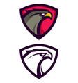 heraldic eagle mascot vector image vector image