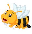 honey bee on a white background vector image vector image