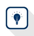 idea bulb flat icon vector image vector image