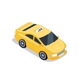 Isometric Yellow Taxi Cab vector image vector image