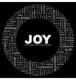 JOY vector image vector image