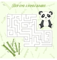 Labyrinth maze find a way panda layout for game vector image vector image