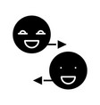 laughing smiles black icon concept vector image vector image