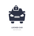 locked car icon on white background simple vector image vector image