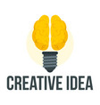 mental creative idea logo flat style vector image vector image