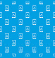 not working phone pattern seamless blue vector image vector image