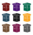 parking toll booth icon in black style isolated on vector image vector image