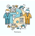 Partners Icon Flat Design Concept vector image vector image