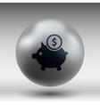 Piggy icon bank economy coin money piggy savings vector image vector image
