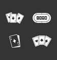 playing cards icon set grey vector image vector image