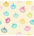 Pumpkin seamless background vector image