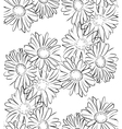 Seamless pattern black and white camomile flowers vector image vector image