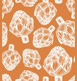 seamless pattern with artichoke sketch style vector image vector image