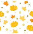 Seamless pattern with orange pumpkin vector image vector image