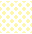 seamless pattern with tile sunny yellow polka dots vector image vector image