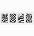 set black and white geometric covers vector image