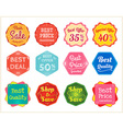 Set of retro promotion discount sale label vector image