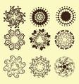 set of vintage design elements12 vector image vector image