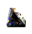 Shiny and bright black diamond vector image vector image
