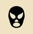 simple graphic of a wrestler mask vector image vector image