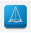 square button sailboat vector image